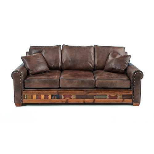 Remington Reclaimed Barn Wood Open Sofa - Desert Clay 6071410 -SF