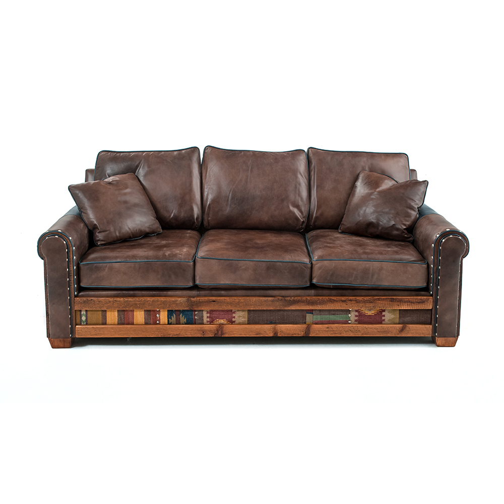 Remington Reclaimed Barn Wood Open Sofa