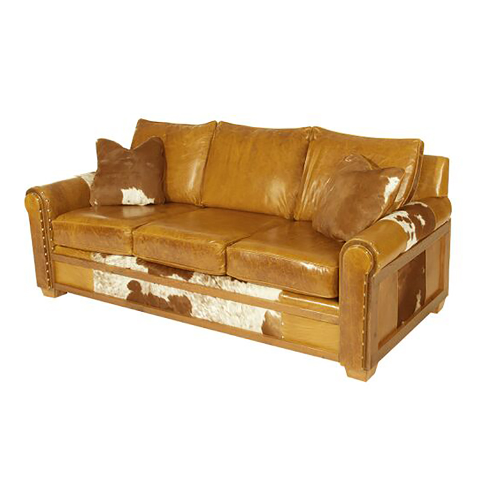 Remington Reclaimed Barn Wood Open Sofa Plainsman