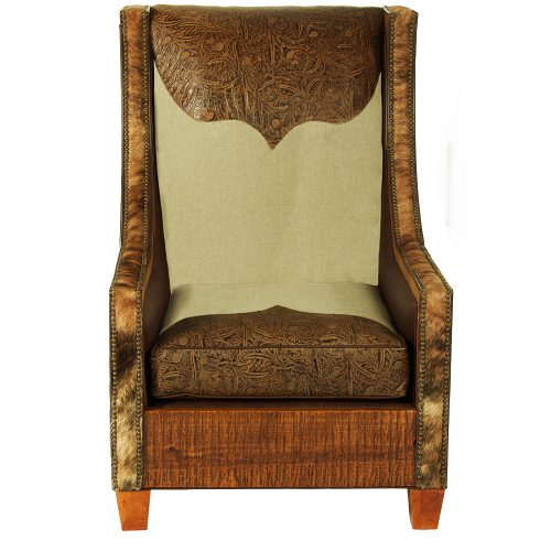 Hickock Reclaimed Barn Wood Leather Chair - Longhorn 65020C-LH