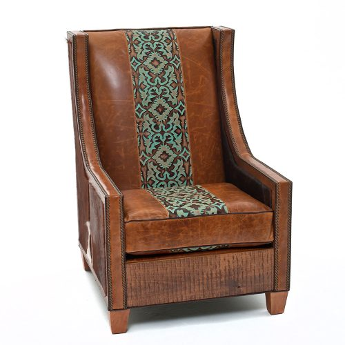 Hickock Leather Reclaimed Barn Wood Chair - Santa Fe 65020-C