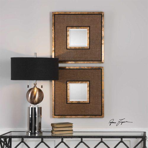 Milia Squares S/2 mirror 09148