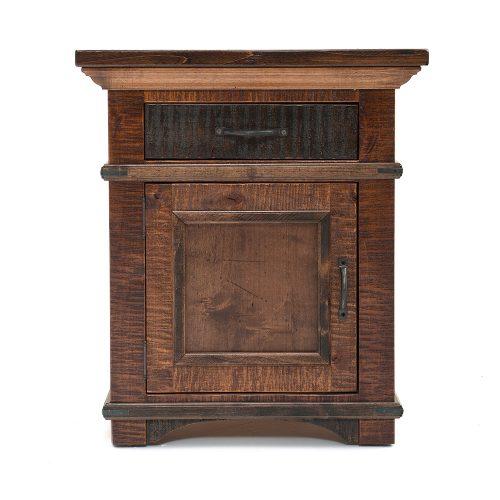 Glen Falls Reclaimed Barn Wood 1 Drawer 1 Door Nightstand 21408