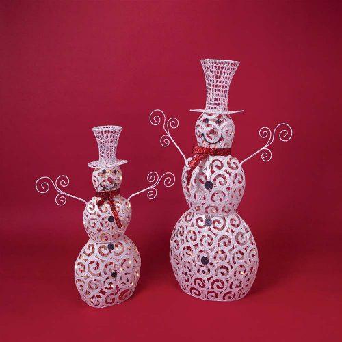 Glitter Snowman w/Lights 45286