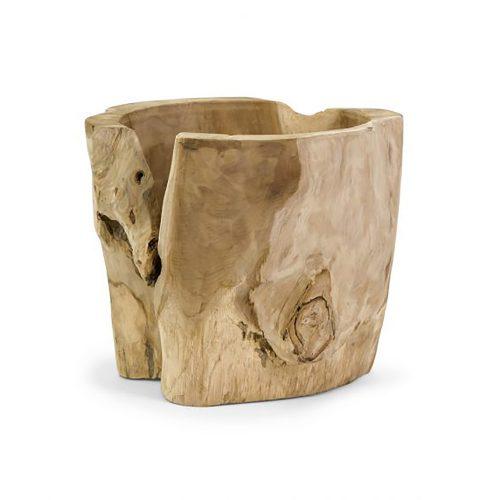 Macaque Teakwood Vase 54110