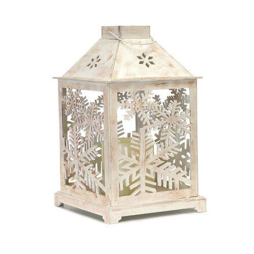 Lantern w/ Cutout & LED Candle 57490