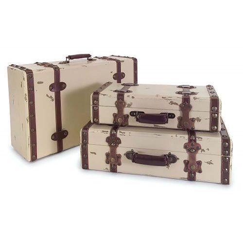Antique Ivory Suitcases 6013-3
