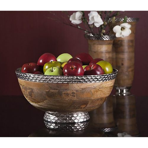Mango Wood Pedestal Bowl 71780