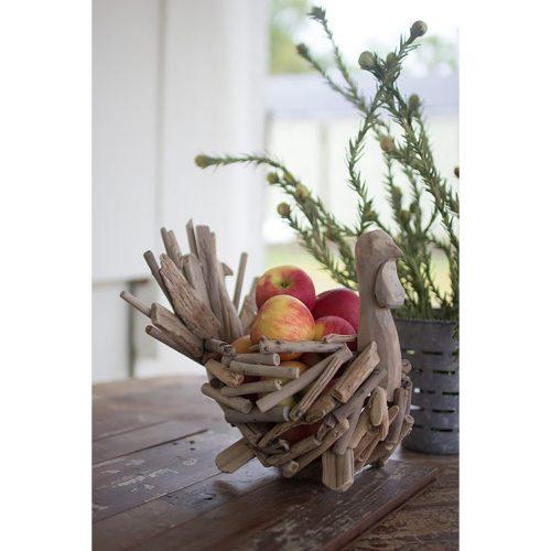 Driftwood Turkey Basket CNEW1002