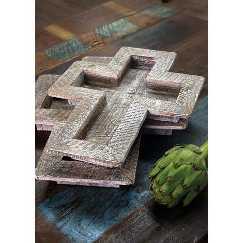 Set of 2 Wooden Cross Trays CPP1079-hr
