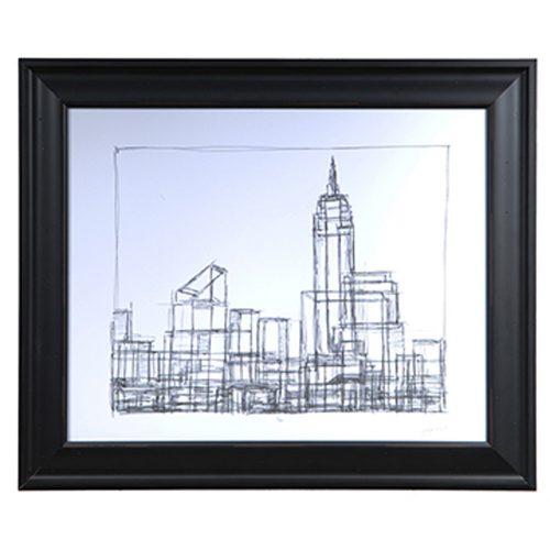 Wire Frame Cityscape1 CVA3413
