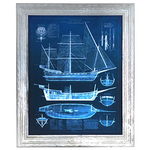 Antique Ship Blueprints 1 CVA3426