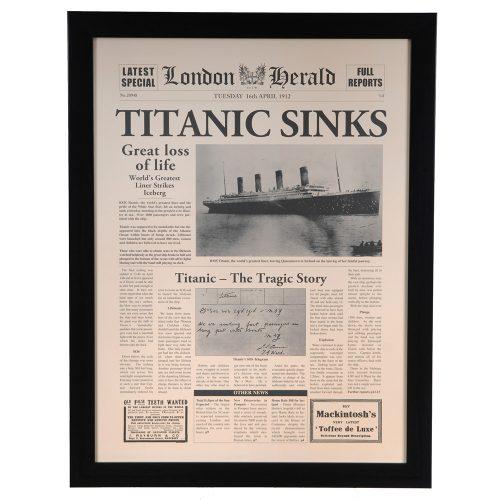 Titanic Sinks CVA3452