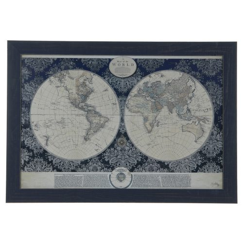 Blue World Map CVA3608