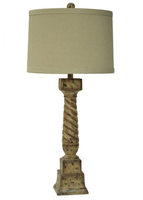French Post Table Lamp CVAUP963