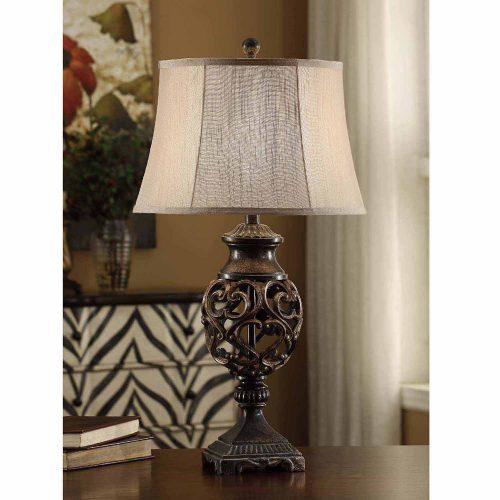 Scrolled Iron Table Lamp CVAVP235