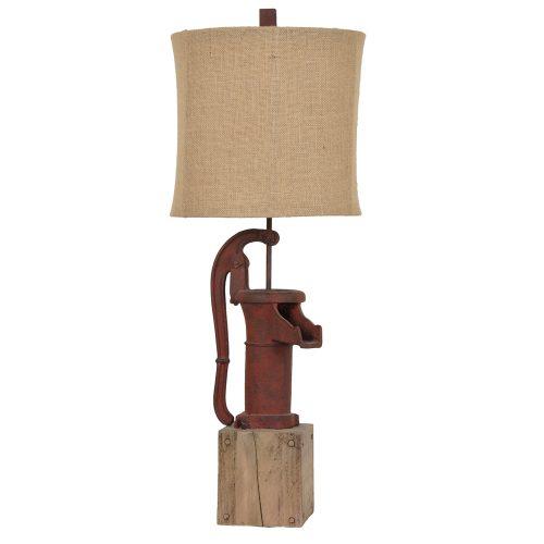Antique Pump Table Lamp CVAVP262
