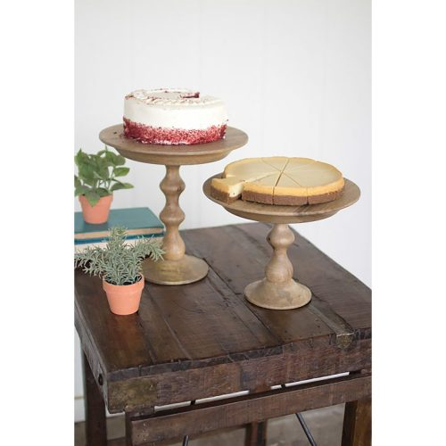 Small Wooden Cake Stand NGG1050