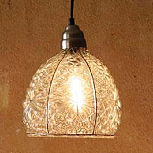 Electric Pendant Lamps With Glass Shade 8 X 10.5 - NNL1000