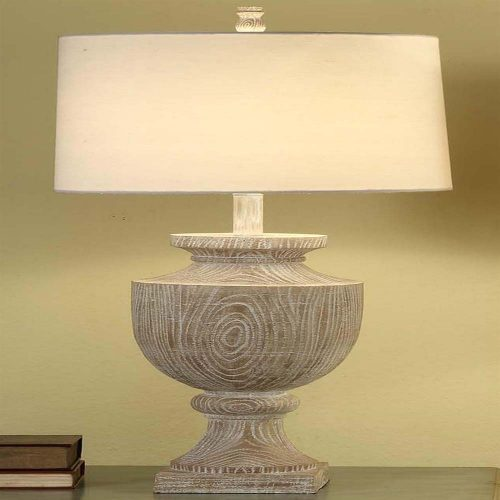 Avalon Carved Wood Table Lamp CVAUP523