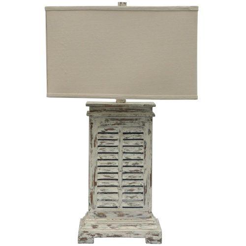 Antique Shutter Table Lamp CVAUP542