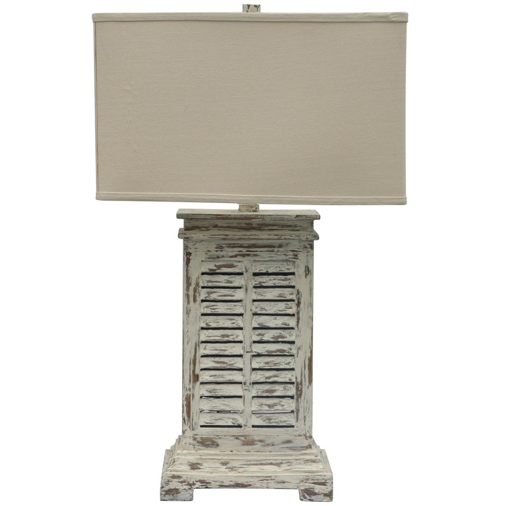 Shutter table lamp cvaup542 antique shutter table lamp cvaup542 geotapseo Gallery