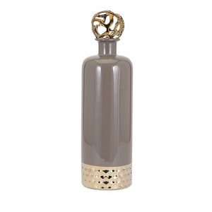 Beth Kushnick Large Gray Ceramic Bottle 48105