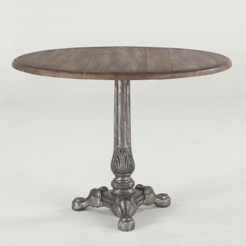 New Round Vintage Gray Zinc Dining Table