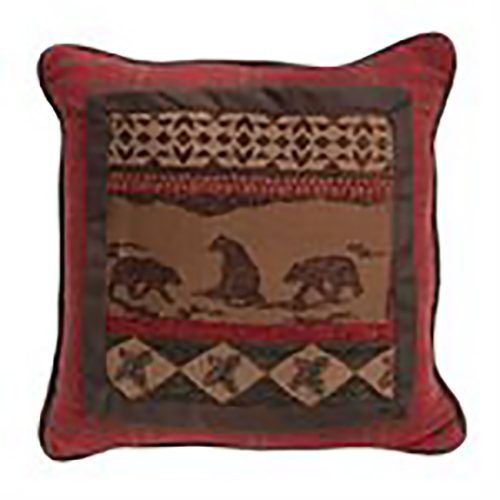 Cascade Lodge Rustic Geometric Pillow LG1845P1