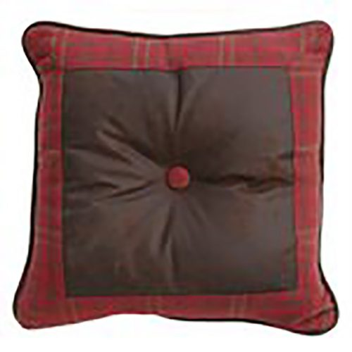 Cascade Lodge Red Plaid Pillow LG1845P2