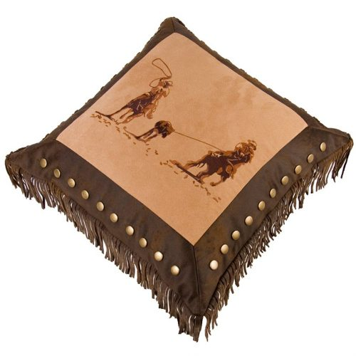 Team Roper Brown Pillow PL3114