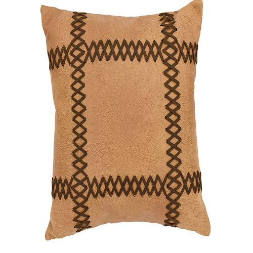 Faux Lacing Leather Pillow PL3145