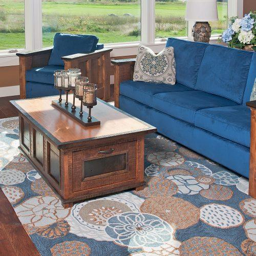 Saratoga Reclaimed Barn Wood 2 Drawer Coffee Table 42205
