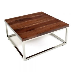 Rustic Contemporary Silver Base Coffee Table