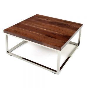 Rustic Contemporary Chrome Base Coffee Table WC-Misc 8