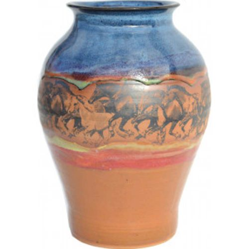Wild Horses Medium Neck Vase 164WildHorses