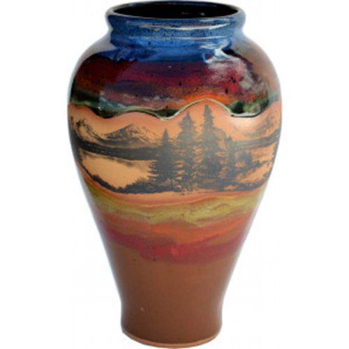 Mountain Scene Slender Vase 165MountainScene