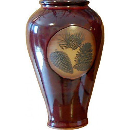 Pinecones Slender Vase 165Pinecones
