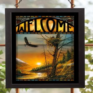 Flying Free-Bald Eagles Stained Glass 5386499006