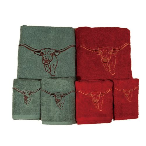 Steer Towel Set TW3118-OS-TQ