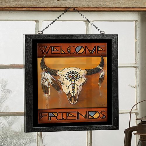 Big Medicine - Bison Skull Stained Glass 5386498010