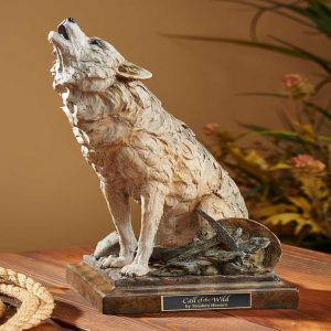 Call of the Wild-Howling Wolf Sculpture 6567443771