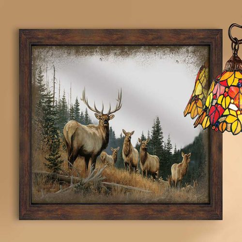 Royal Mist-Elk Framed Mirror 5386493506