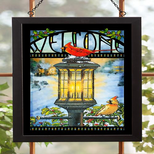 Evening Glow-Cardinal Stained Glass 5386498009