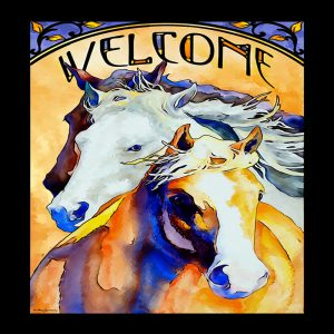 Follow Me-Horses Stained Glass 5386498002