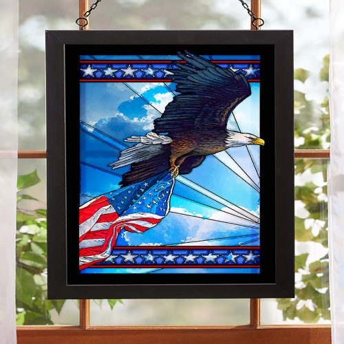 Our Glory-Bald Eagle - Stained Glass Art 5386498015