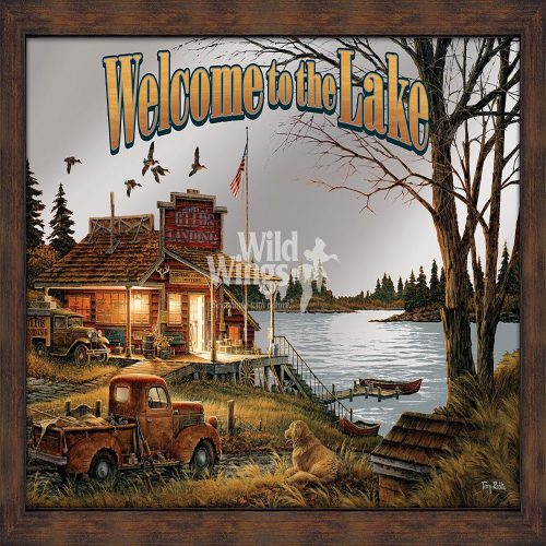 Welcome to the Lake Framed Mirror 5386493017