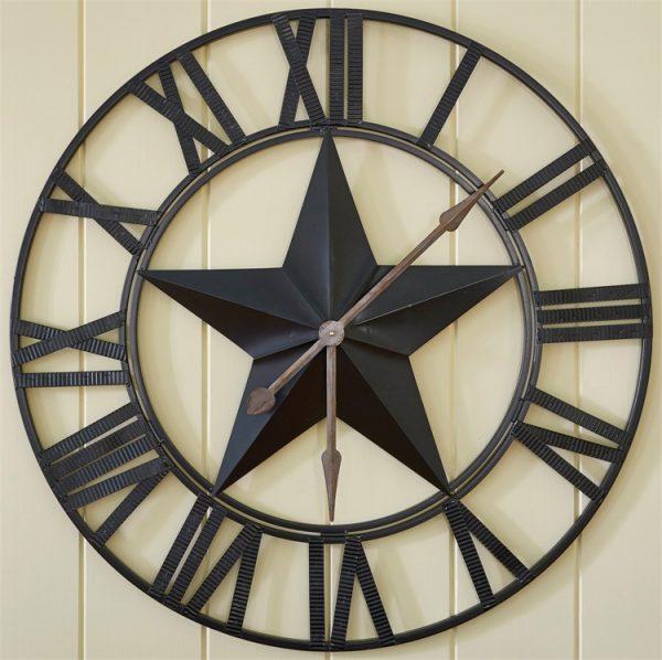 Texas Star Wall Clock