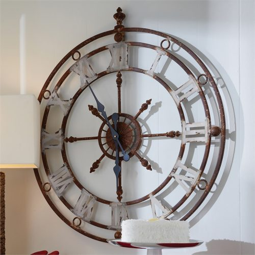 Weathered Metal Clock