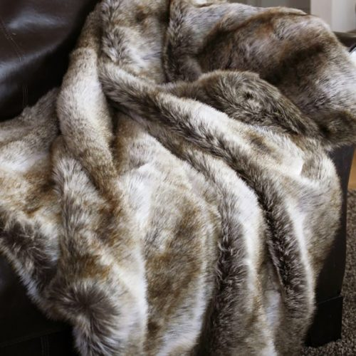 Chinchilla Fur Throw JB3020